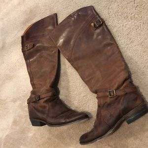 FRYE Boots Brown Leather